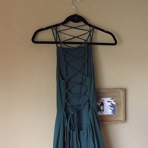 """Lulu's Dresses - LuLus """"Strappy To Be Here"""" -Forest Green"""